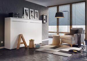 letto a muro LETTO ARMADIO Concept Pro 140x200 BIANCO LUCIDO ...