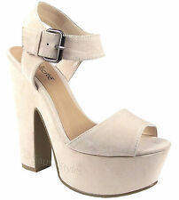 51dbdca75a8 Dune Ladies Michaela Two Part Platform High Heel Sandal in Mink Size ...