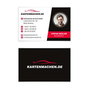 Visitenkarten individuell Business Karten 300g/qm 85 x 55 mm - Autohändler