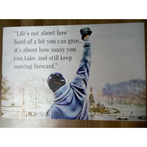Rocky Balboa Motivational Quotes Poster 13x20 inches