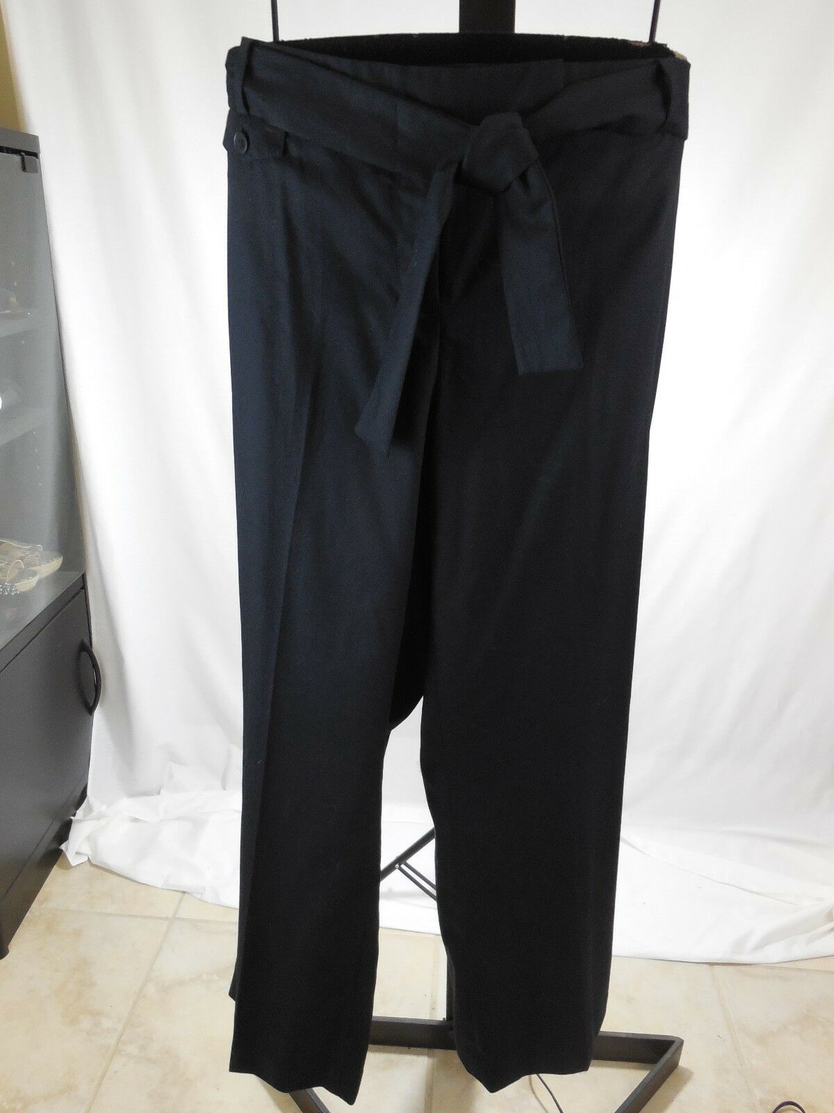 PETITE DARK NAVY blueE 100% COTTON WASHABLE PANTS TALBOTS SIGNATURE 16P  99