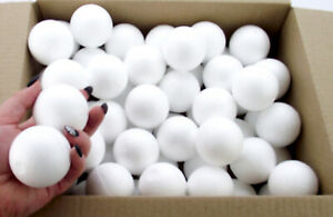 Box-of-60-Polystyrene-Ball-50mm-Christmas-bauble-craft-decorations-party