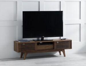 Image Is Loading Vintage Tv Stand Cabinet Furniture Retro Wooden Sliding