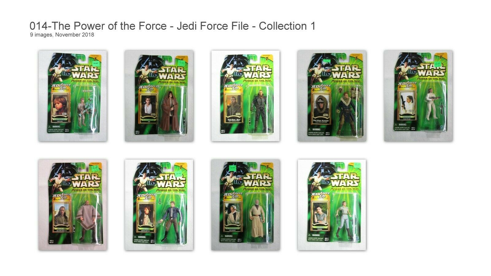 Star Wars Power of the Jedi - Jedi Force Files Collection 1 - 9 Figures NIB