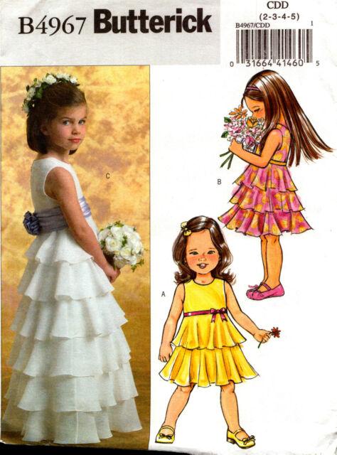 Butterick Sewing Pattern B4967 4967 Flower Girl Dress Princess Dress 2-5 7-14