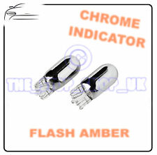 2x Chrome Indicatore Lampadine T20 W21W Laterale Ripetitore flash Ambra