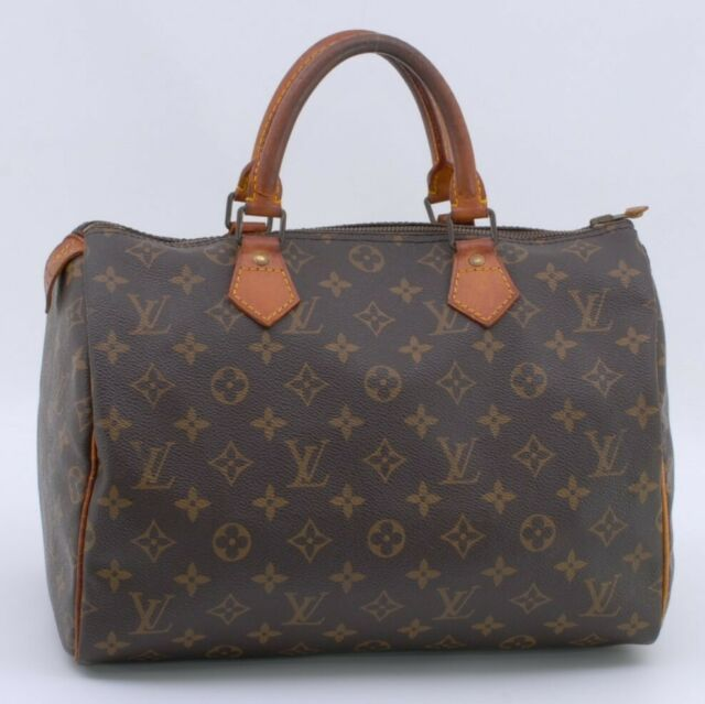 LOUIS VUITTON Monogram Speedy 30 Hand Bag M41526 Authentic from Japan #347