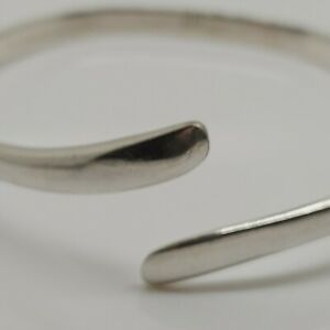Sterling-silver-Brooch-solid-925-jewellery-Bangle-Bracelet-7-034-viking-band-U83