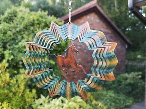 "Garden or Indoor Designer 6.5/"" WIND SPINNER TWISTER CHIME SET Hook Iron Stop"
