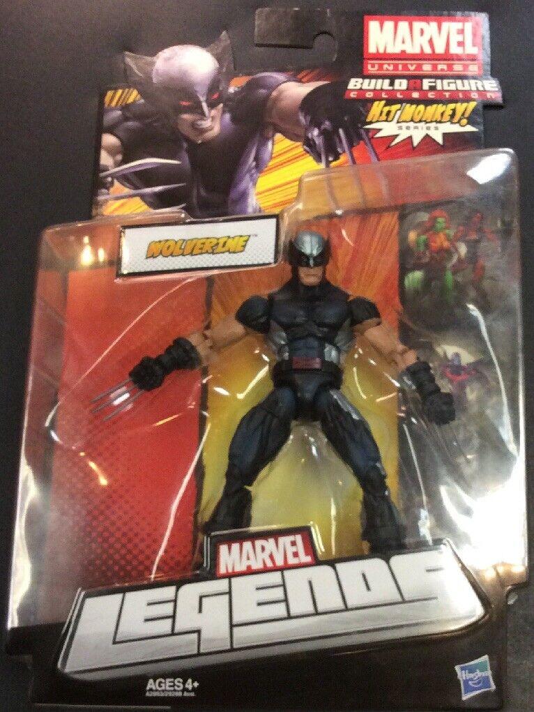 Marvel Legends Vintage Wolverine X-Force Silver ACTION ACTION ACTION FIGURE NIP Hit Monkey BAF 394