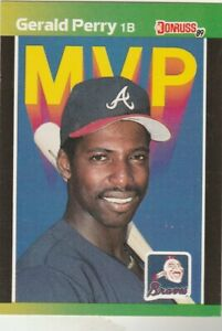 FREE-SHIPPING-MINT-1989-Donruss-MVP-BC-24-Gerald-Perry-Braves-PLUS-BONUS-CARDS