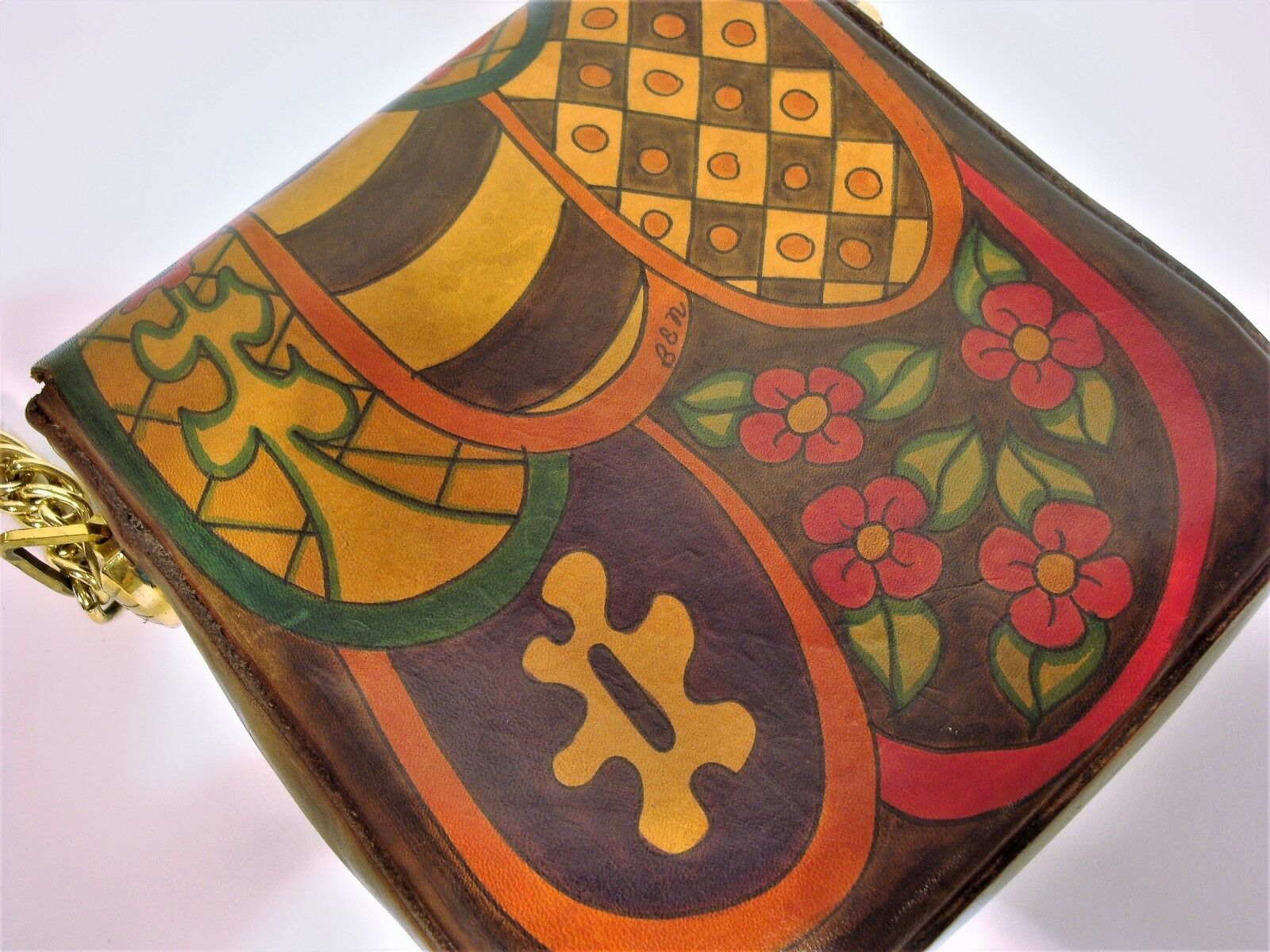 1970's Handmade & Painted ELYSE STONE Psychedelic… - image 4