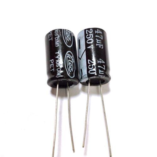 1uF~2200uF 16Values 250V 47uF 250Volt 47MFD Aluminum Electrolytic Capacitor