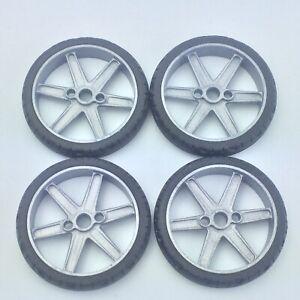 Knex Narrow Motorcycle Tires Wheels Lot 2 25 With Gray 6 Spoke Hubs K Nex Parts Ebay