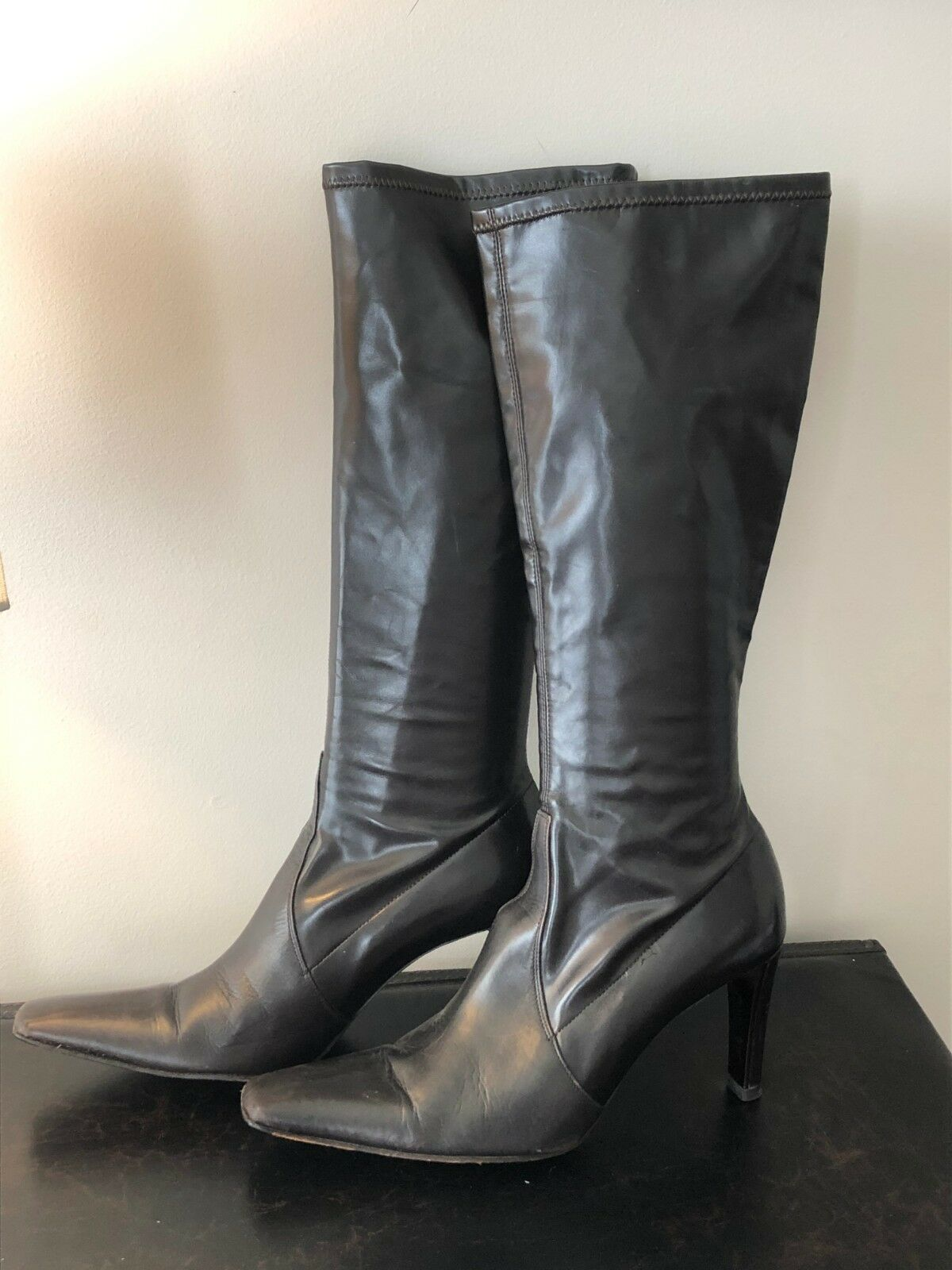 Donald J Pliner Women Brown Leather Boots Sz 9.5