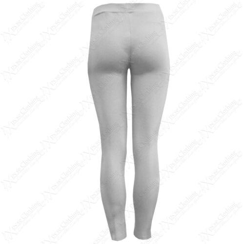 Neuf Femmes Argent Paillettes Bande sur le Côté Legging Noir Extensible Pantalon