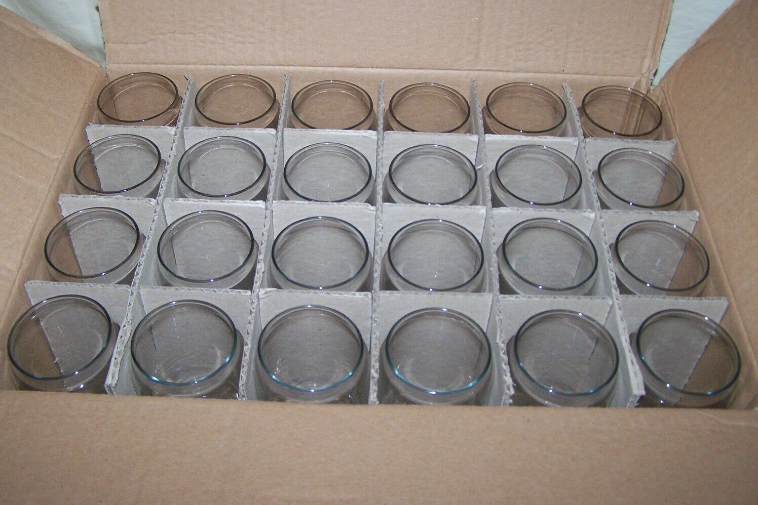 Case OF 24 Libbey Can Shaped Beer Glass Beer Glasses
