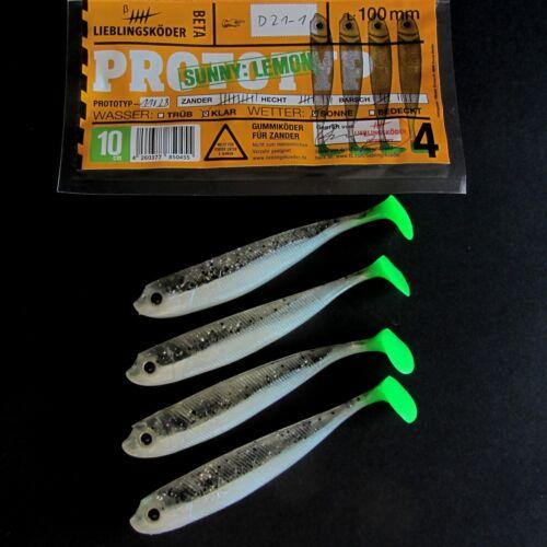 Lieblingsköder Sunny:Lemon UV Aktiv Tail  10 cm   Stint Zander Hecht Dorsch