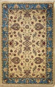 Rugstc 4x6 Senneh Chobi Ziegler White Area Rug,Natural dye, Hand-Knotted,Wool