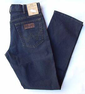 WRANGLER-Jeans-Stretch-Texas-Blue-Black-W44-L34