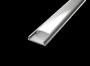 LED Alu Aufputzprofil für 12 mm LED-Streifen mit einklickbarer Abdeckung GARONNE