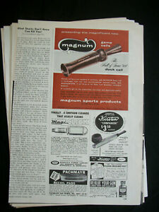 VTG-1960-Orig-Magazine-Ad-MAGNUM-Game-Calls-Hall-of-Fame-DUCK-Call
