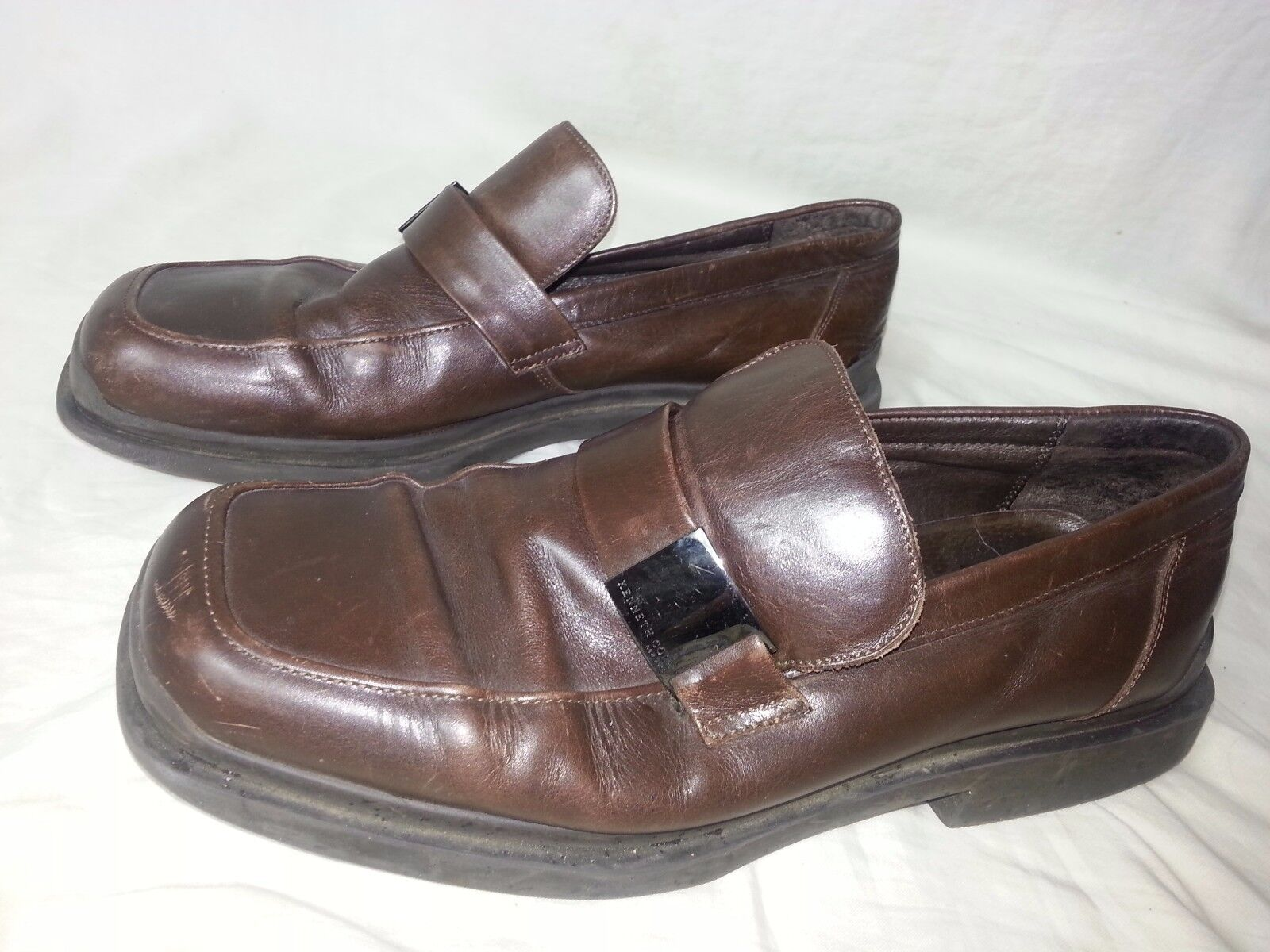 Kenneth Cole New York Men's Oxford Lace Up Brown Dress shoes Size 10.5 ITALY