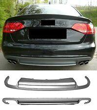 Für Audi A4 B8 8K S4 RS4 2007- Sedan Spoiler Heckschürze HINTEN Heckansatz :24