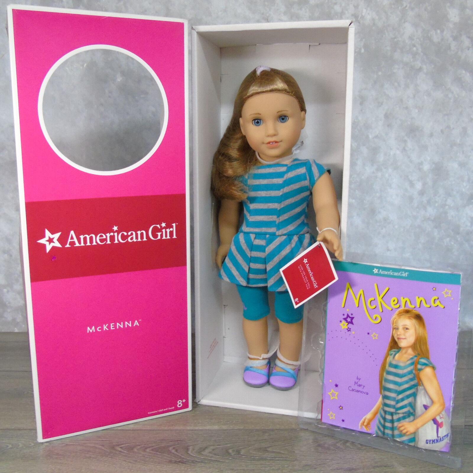 Marca Nueva 18  McKenna Muñeca American Girl 2012 en la etiqueta de Muñeca Traje de satisfacer Libro Caja