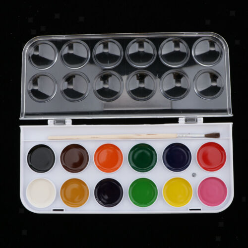 12//16//28//36 Colors Solid Watercolor Paints With brush For Art Crafts Paint