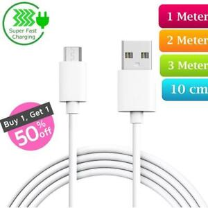 Heavy-Duty-Long-Fast-Charge-Micro-USB-Data-Power-Phone-Charger-Cable-2m-3m-Lead