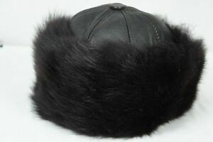 0ad9aa25 Image is loading Brown-100-Sheepskin-Shearling-Leather-Fur-Beanie-Round-