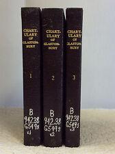 The Great Chartulary of Glastonbury, Vol. I-III By Dom Aelred Watkin- 1947