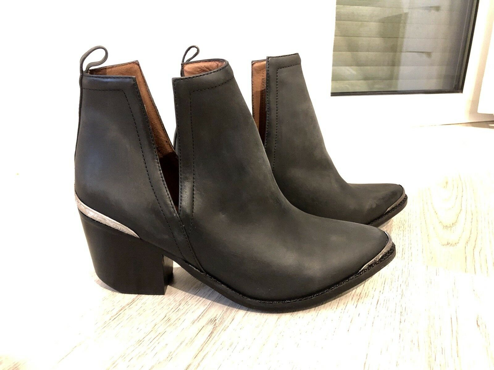 Jeffrey Campbell Cromwell Western BLACK NEVER Stiefel 9.5US UK7 EU40 NEVER BLACK WORN 93895d