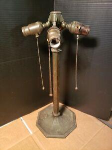 Antique Bronze Bradley Hubbard Lamp Arts & Crafts Mission 4 Socket Cluster