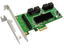 Marvell Chipset 8 Ports SATA 3.0 6GB PCI Express Card NCQ & Port Multiplier FIS