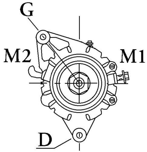 ACR 17 12V Tipo Lucas Alternador Sin Polea Classic Vintage 16001
