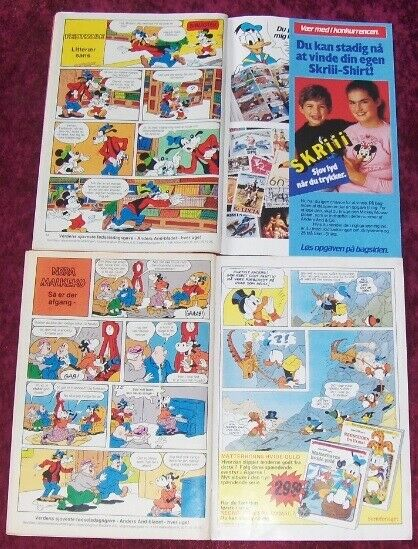 4 STYK ANDERS AND HÆFTER FRA 1985, Walt Disney, Tegneserie