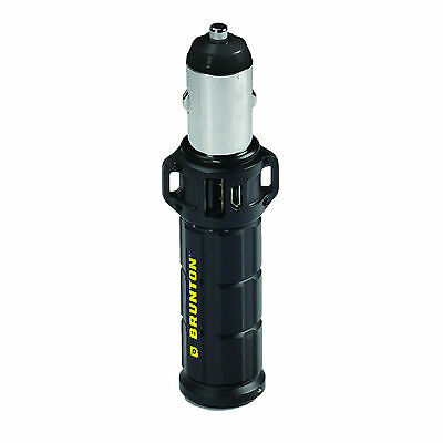 Brunton Torpedo 2600 mAh Hybrid Power Pack Car Adapter 2x Charges