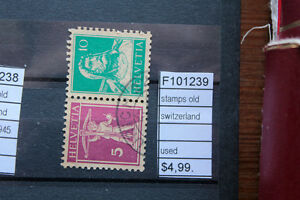 STAMPS-OLD-SWITZERLAND-USED-F101239