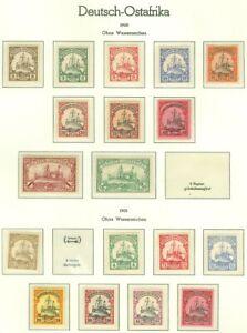 EDW1949SELL-GERMAN-EAST-AFRICA-1900-05-Sc-11-20-22-29-VF-Mint-OG-Cat-231