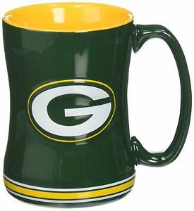 b48d0d61ad0 NFL Green Bay Packers Sculpted Relief Coffee Mug Boelter Brands 14 ...