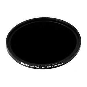 Haida 58mm Slim PRO II Multi-Coated ND64 Filter Neutral Density ND 1.8 58 6 Stop