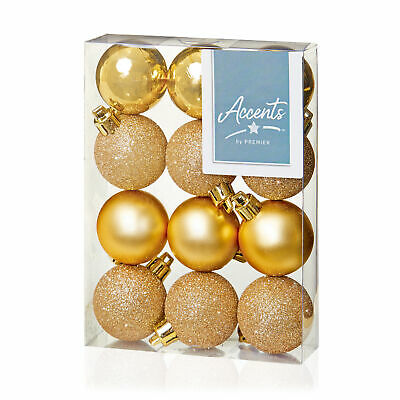 Gold DP Christmas Tree Decoration 6 Pack 80mm Glitter Stars