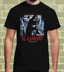 IL-CORVO-THE-CROW-T-SHIRT-per-Uomo-e-Bambino