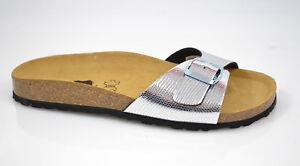 Sandalen Silber Normal Titan Longo Neu Madrid Pantoletten Snake Fussbett gA4Sn