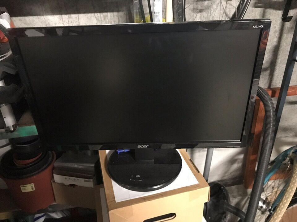 Acer, fladskærm, K222HQL