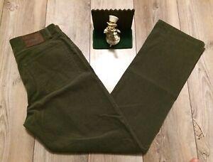 Polo Ralph Lauren Classic 5 De Bolsillo Para Hombre Pantalones De Pana 34 X 34 Nuevo Con Etiquetas Bosque Verde Ebay