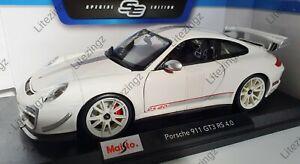 1-18-Maisto-escala-Diecast-Modelo-Coche-Porsche-911-GT3-RS-4-0-en-Blanco