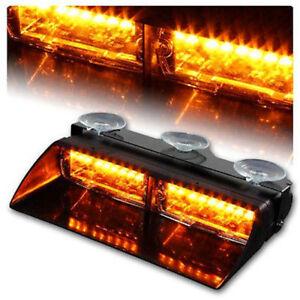 Car-16-LED-Amber-Amber-Police-Strobe-Flash-Light-Dash-Emergency-Flashing-Light